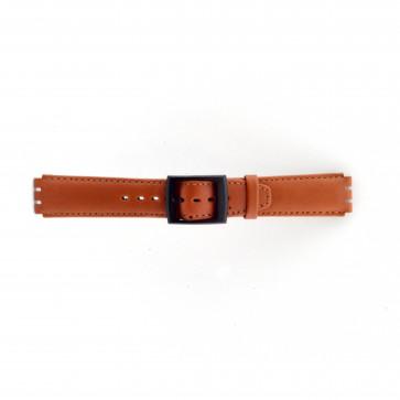 Klokkerem Swatch SC11.03 Lær Brun 17mm