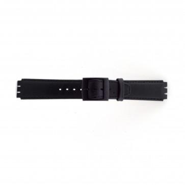Klokkerem Swatch SC11.01 Lær Svart 17mm