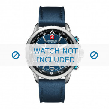 Swiss Military Hanowa klokkerem 06-4224.04.003 Lær Blå 22mm + søm blå