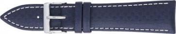 karbon klokkerem mørk blå med hvit søm 24mm PVK-321
