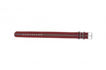 Timex klokkerem T7B913 BL Stoff Rød 20mm