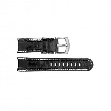 Klokkerem TW Steel TWB110 / TWB72 / TW72 / TW110 Lær Svart 22mm