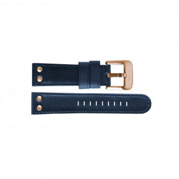 TW Steel klokkerem TWB405 Lær Blå 24mm + søm blå