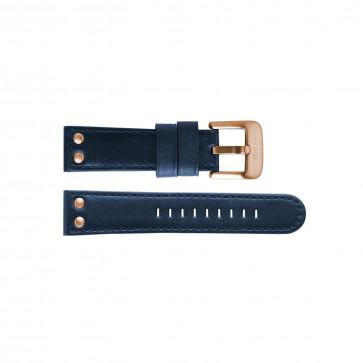 TW Steel klokkerem TWB405L Lær Blå 24mm + søm blå