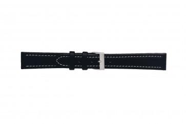 Morellato klokkerem Tipo Locman U2195432019SB24 / PMU019LOCMAN24 Glatt lær Svart 24mm + søm hvit