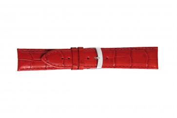 Morellato klokkerem Extra X3395656083CR30 / PMX083EXTRA30 Krokodilleskinn Rød 30mm + standard sømmer