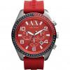 Klokkerem Armani Exchange AX1252 Silikon Rød 22mm