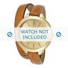 Michael Kors klokkerem MK2256 Lær Konjakk 12mm + søm brun