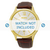 Klokkerem Seiko 7N42-0GG0 / SGEH56P1 Krokodilleskinn Brun 21mm