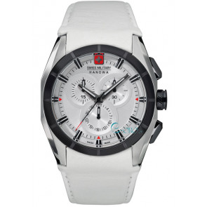 Klokkerem Swiss Military Hanowa 06-4191.33.001 Lær Hvit