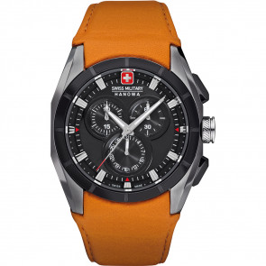 Klokkerem Swiss Military Hanowa 06-4191.33.007.79 Lær Oransje