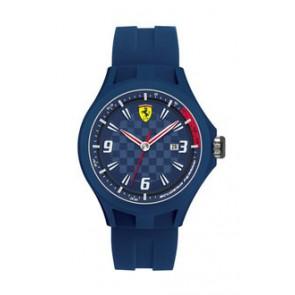 Klokkerem Ferrari SF101.4 / 0830067 / SF689300097 Gummi Blå 22mm