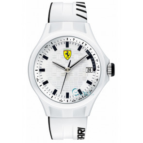 Ferrari klokkerem SF101.6 / 0830124 / SF689300071 / Scuderia Silikon Hvit 22mm