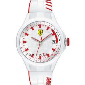 Ferrari klokkerem SF101.6 / 0830127 / SF689300079 / Scuderia Gummi Hvit 22mm