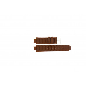 Jacques Lemans klokkerem 1-1696 / BK-2892 Silikon Brun 12mm