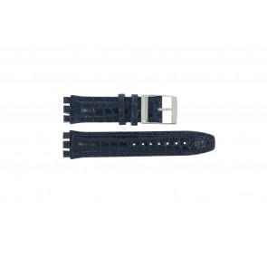 Klokkerem Swatch 247.11M Lær Blå 20mm