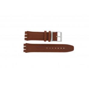 Klokkerem Swatch 247.02PL Lær Brun 20mm