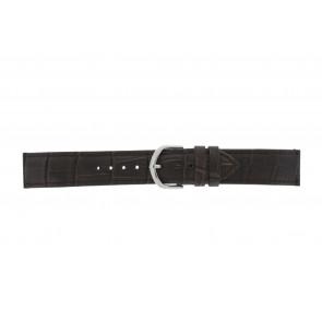Olympic klokkerem 26HSL057 Lær Brun mørk 20mm + standard sømmer