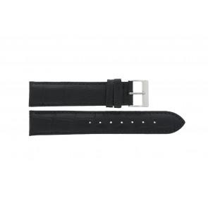 Edox klokkerem 27028-2 (Staal) Lær Svart 17mm + standard sømmer