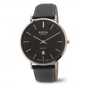 Klokkerem Boccia 3589-02 Lær Svart 20mm