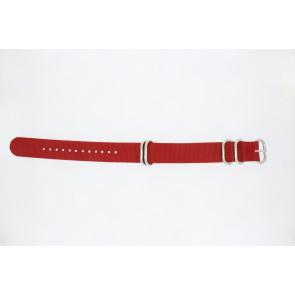 Klokkerem 409.06.20 Tekstil Rød 20mm