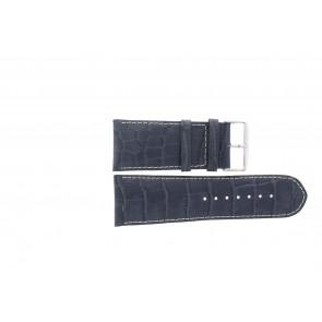 klokkerem i ekte lær krokodille mørk blå WP-61324.36mm