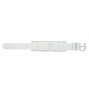Klokkerem 61325.11.20 Lær Hvit 20mm + søm hvit