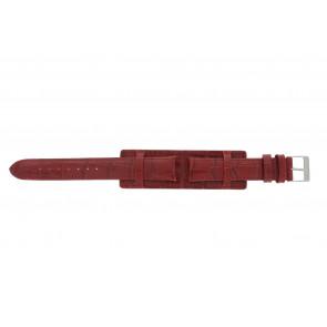 Klokkerem 61325.45.16 Lær Rød 16mm + søm rød