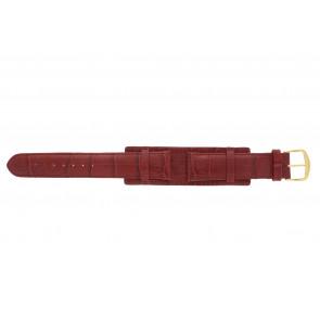 Klokkerem 61325.45.20 Lær Rød 20mm + søm rød