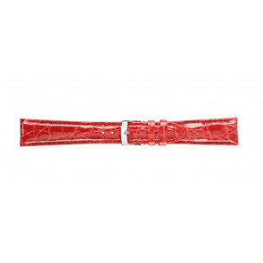 Morellato klokkerem Amadeus G.Croc Glans U0518052083CR22 / PMU083AMADEC22 Krokodille skinn Rød 22mm + standard sømmer