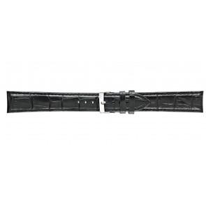 Morellato klokkerem Bolle XL Y2269480019CR22 / PMY019BOLLE22 Krokodilleskinn Svart 22mm + standard sømmer