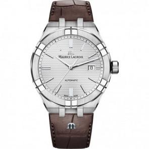 Klokkerem Maurice Lacroix Aikon AI6008-SS001-130-1 Lær Brun 25mm