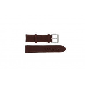 Davis klokkerem BB0231 Lær Brun mørk 21mm + søm brun