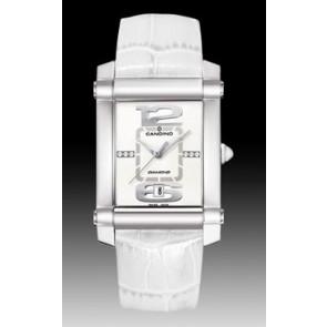 Klokkerem Candino C4283 Lær Hvit 22mm