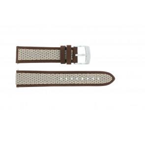 Klokkerem Camel BC50990 / A667.5327LGPA Lær/Tekstil Brun 22mm