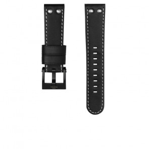 TW Steel klokkerem CEB107 Lær Svart 22mm + søm hvit