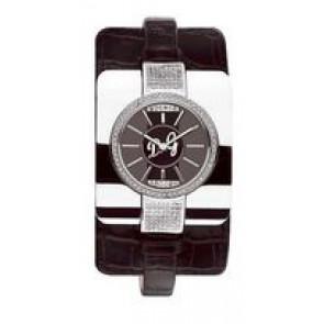 Klokkerem Dolce & Gabbana DW0161 Krokodilleskinn Svart 10mm