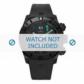 Klokkerem Edox 10020-37N-NV Silikon Svart 22mm