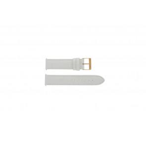 Klokkerem Guess W17516L1 Lær Hvit 20mm