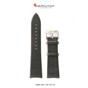 Klokkerem Hamilton H38755731 Lær Svart 22mm