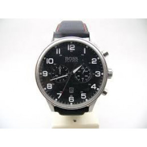 Klokkerem Hugo Boss HB.199.114.2570 Skinn/Plast Svart 22mm