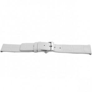 Klokkerem Universell F520 Lær Hvit 18mm