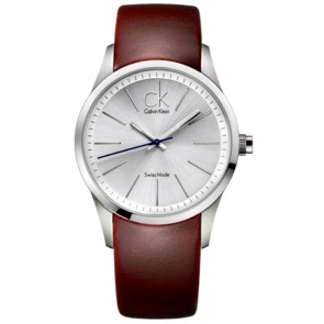 Klokkerem Calvin Klein K2241138 Lær Brun
