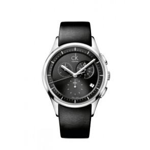 Klokkerem Calvin Klein K2A27161 / K600000065 Lær Svart 20mm