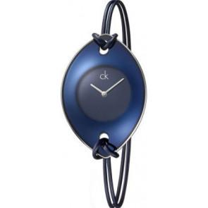 Klokkerem Calvin Klein K33237 Lær/Tekstil Blå