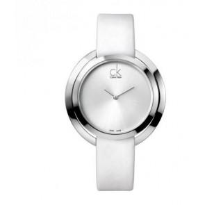Klokkerem Calvin Klein K3U231 Lær Hvit
