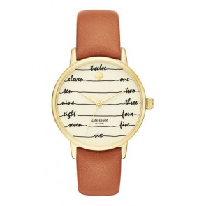 Klokkerem Kate Spade New York KSW1237 Lær Brun 16mm