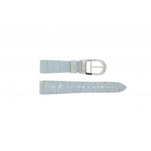 Klokkerem WoW LEDER-BLAUW-18 Lær Blå 18mm