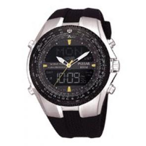 Klokkerem Pulsar NX14-X00101 Silikon Svart