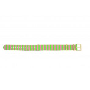 Timex klokkerem PW2P91800 Lerret Multicolor 18mm